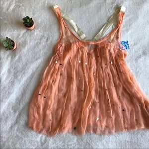 ✨ Intimately Free People Apricot Sheer Tank ✨